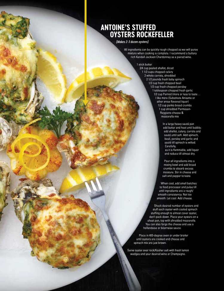 Boatyard Chef George Betz Antiones Oyster Rockefeller