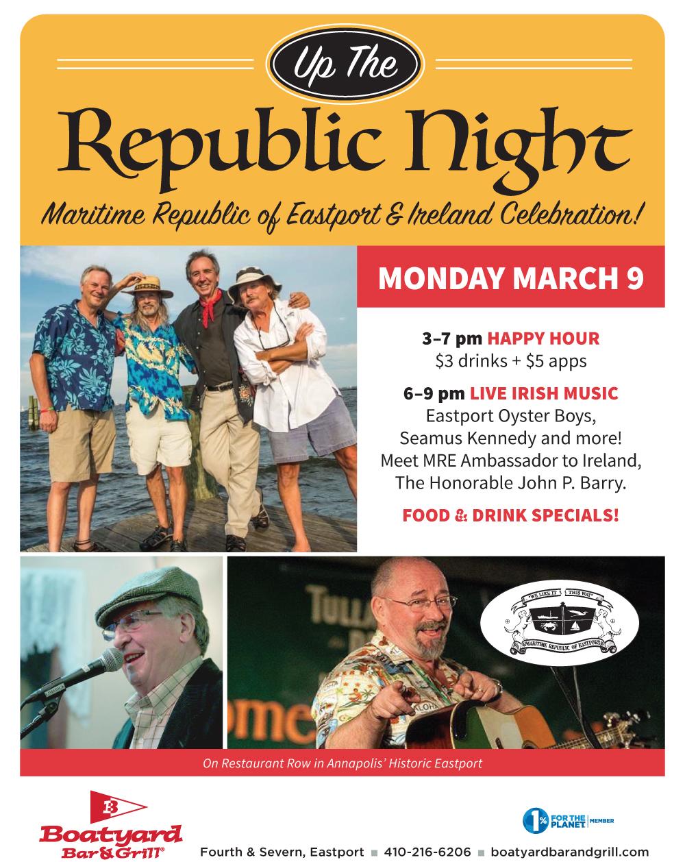 MRE Irish Night returns to the Boatyard