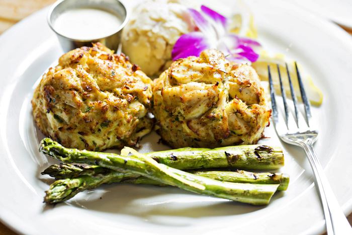 Boatyard all killer no filler crab cakes