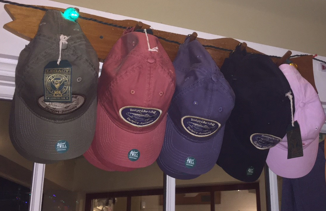 Boatyard merchandise Legacy ball caps