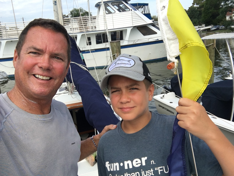 CRAB our crew Dave Gendell and son Trey