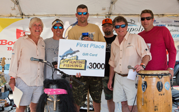 Fishing Tournament 1st place winners generous prizes