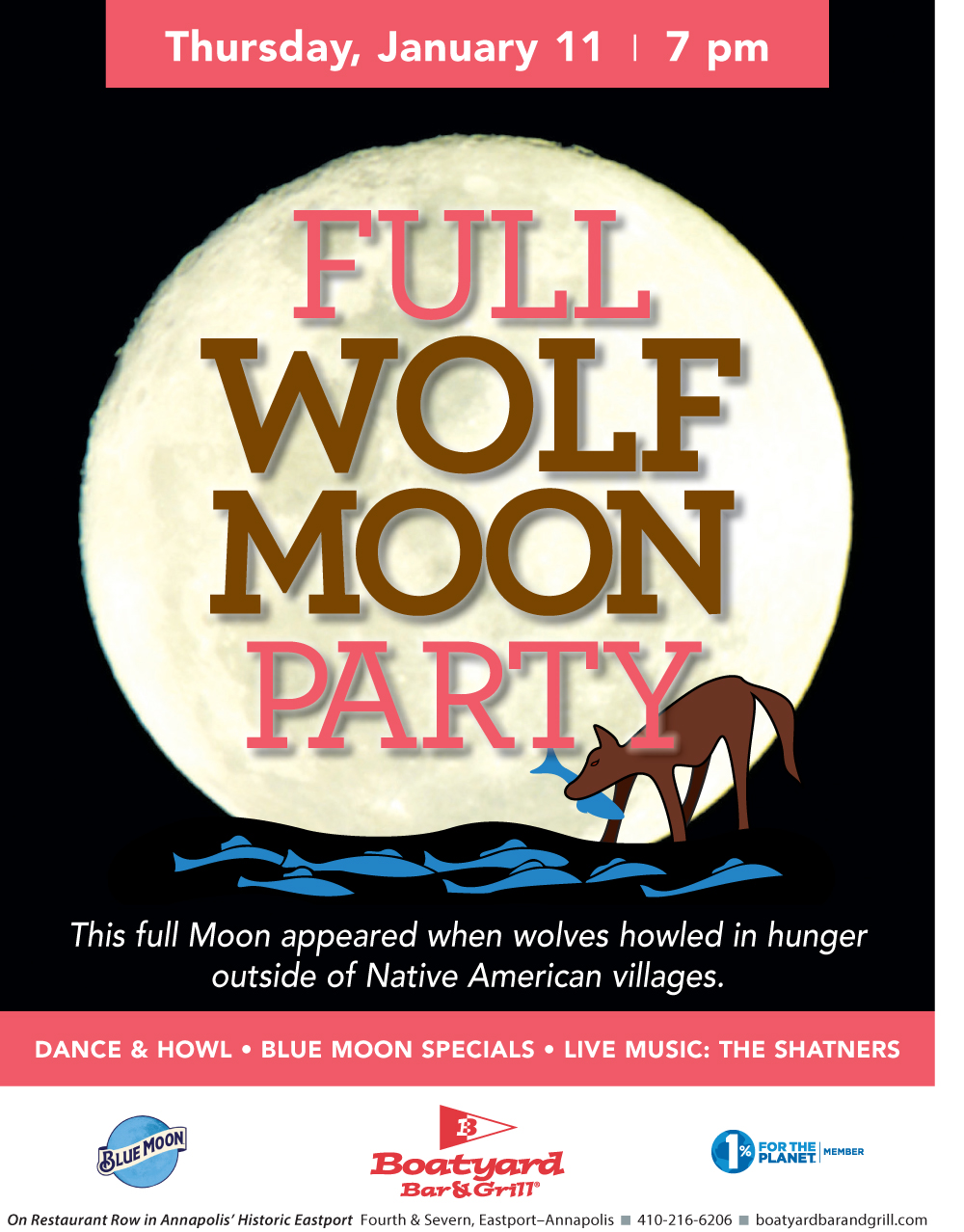 Full Moon party Jan 2018