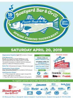 18th Annual Boatyard Bar & Grill Opening Day Rockfish Tournament
