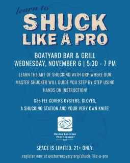 SHUCK Like a Pro at the Boatyard