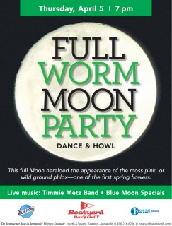Boatyard Full Worm Moon Party April 5