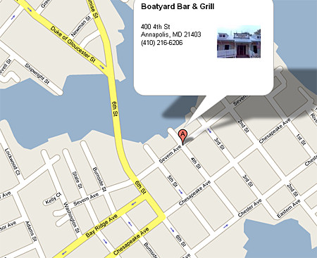 map to Boatyard Annapolis contact