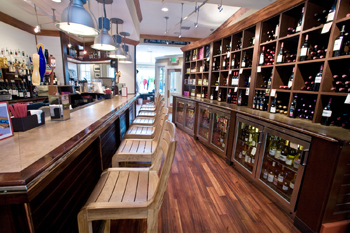 wine bar where at a reception for renowned expert fisherman and author Lefty Kreh a menu of hickory smoked Chesapeake Rockfish, Asian spiced/cherry smoked Smith Island Bluefish and an amazing peppered pork tenderloin was served.