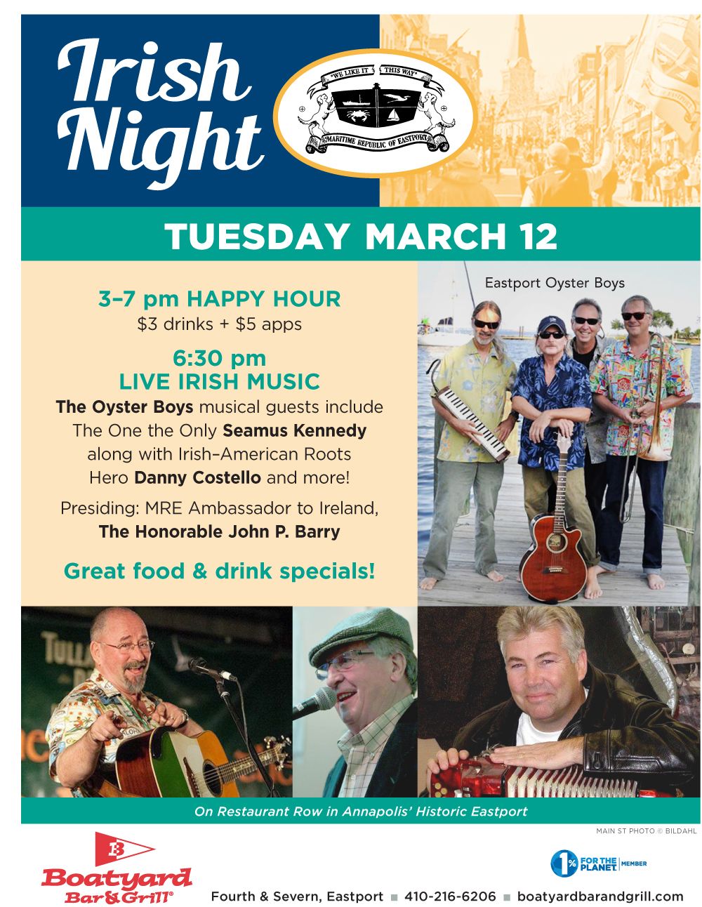 Boatyard 2019 Irish Night