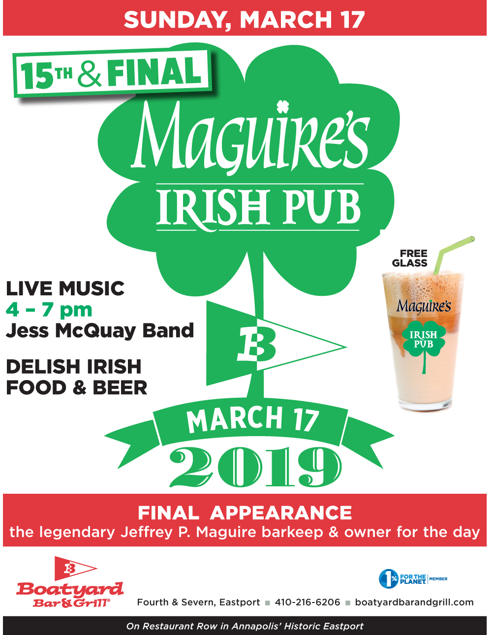 Boatyard 2019 Maquires Irish Pub