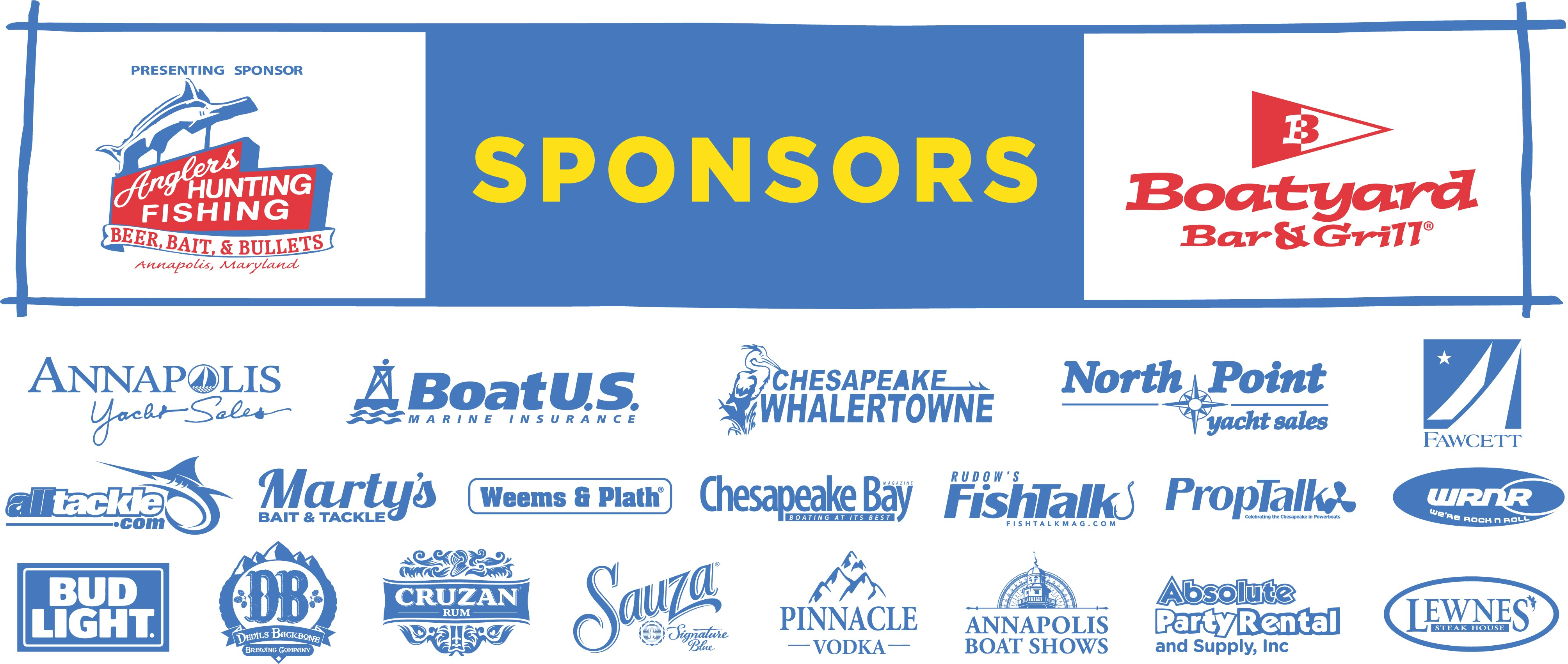 Boatyard Rockfish Tournament 2018 Sponsors