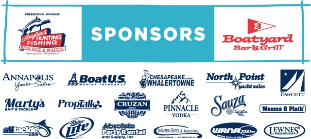 Boatyard Bar and Grill charity events include the Rockfish fishing tournament join these sponsors in Eastport Annapolis Maryland for a fun weekend of fishing activities FT sponsor Logo block 2017