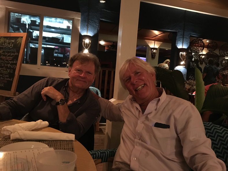 Scott Kirby and Dick at Dock and Dine