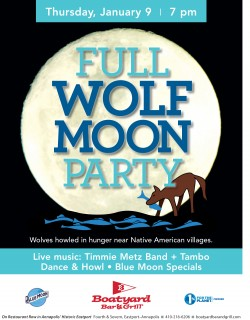Boatyard January 2020 Full Wolf Moon Party