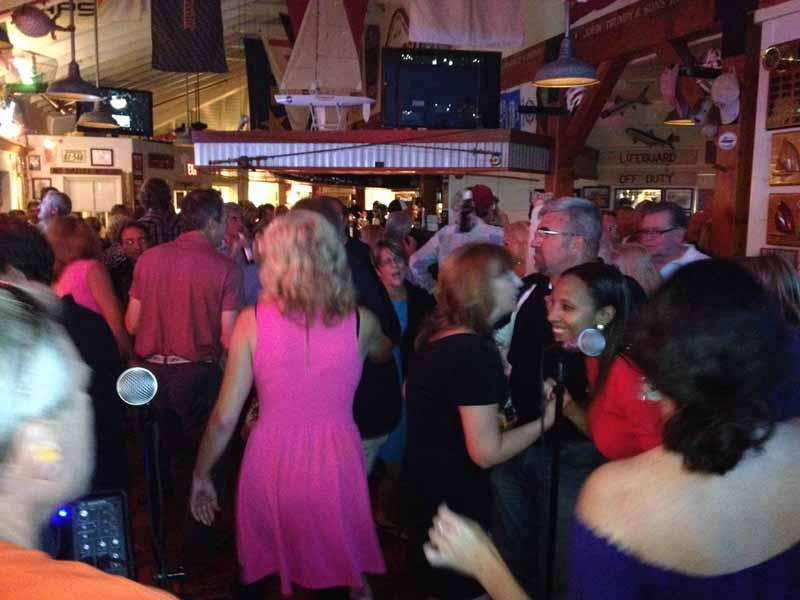 Dance and howl the night away at Boaytard's full moon party in Eastport Maryland live entertainment and great food and drink specials