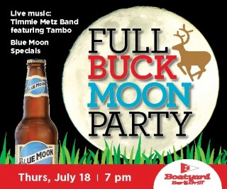 Boatyard July Full Buck Moon Party