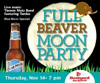 Boatyard November Full Beaver Moon Party