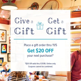 Online Crab Cakes Special Give-a-Gift, Get-a-Gift