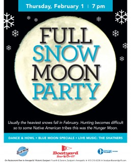 Boatyard Full Moon Party February 2018