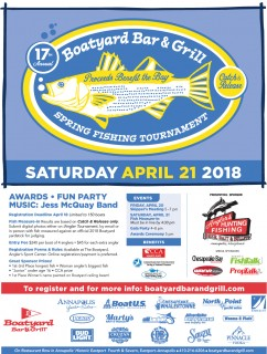 17th Annual Boatyard Bar & Grill Opening Day Rockfish Tournament