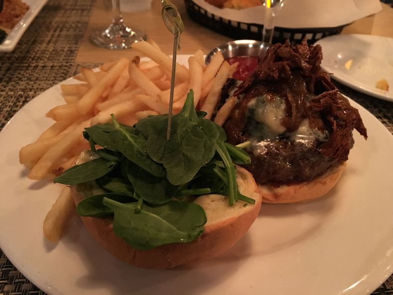 french burger at firefly