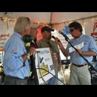 on stage 3rd place angler talks